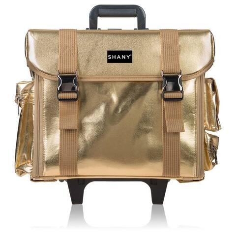 e39a4002925b92 SHANY Makeup Artist Soft Rolling Trolley Cosmetic Case with Bonus Mesh Bag  Set