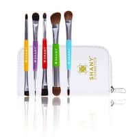 SHANY The Double Tree 5-piece Double-Sided Essential Brush Set with Travel Pouch