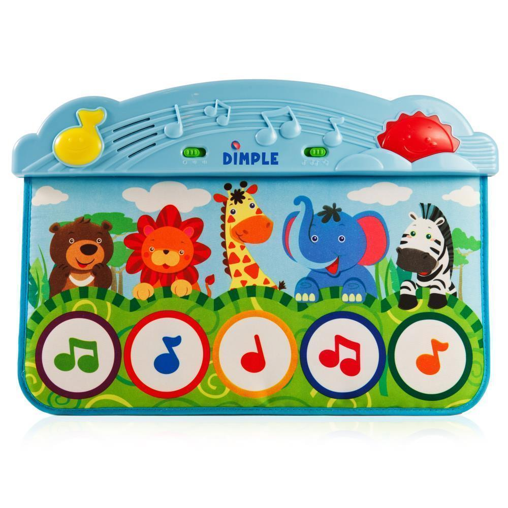 Zoo Animal Kick and Touch Musical Baby Piano Play Mat wit...