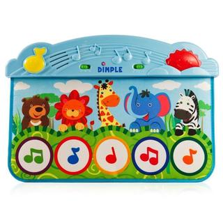 Zoo Animal Kick and Touch Musical Baby Piano Play Mat with Lights and Sounds with 10 Demo Melodies by Dimple