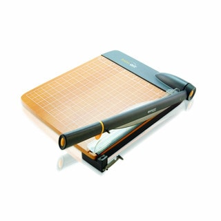 Westcott TrimAir Titanium Wood Guillotine Paper Trimmer with Mircroban Protection 12