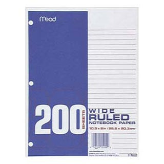 Mead Filler Paper Wide Ruled 200 ct. Notebook (Pack of 12)
