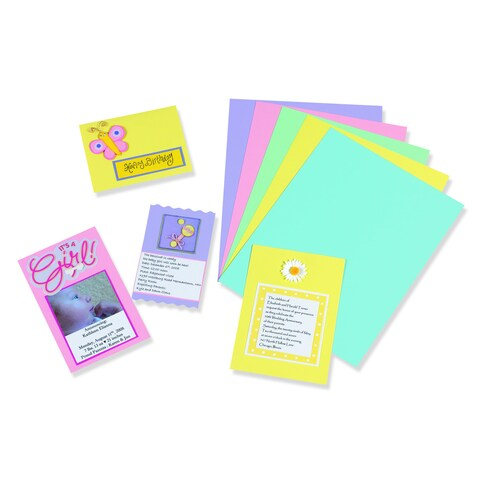 Array 8.5 x 11-inch 100-sheet Pastel Card Stock (Set of 2)