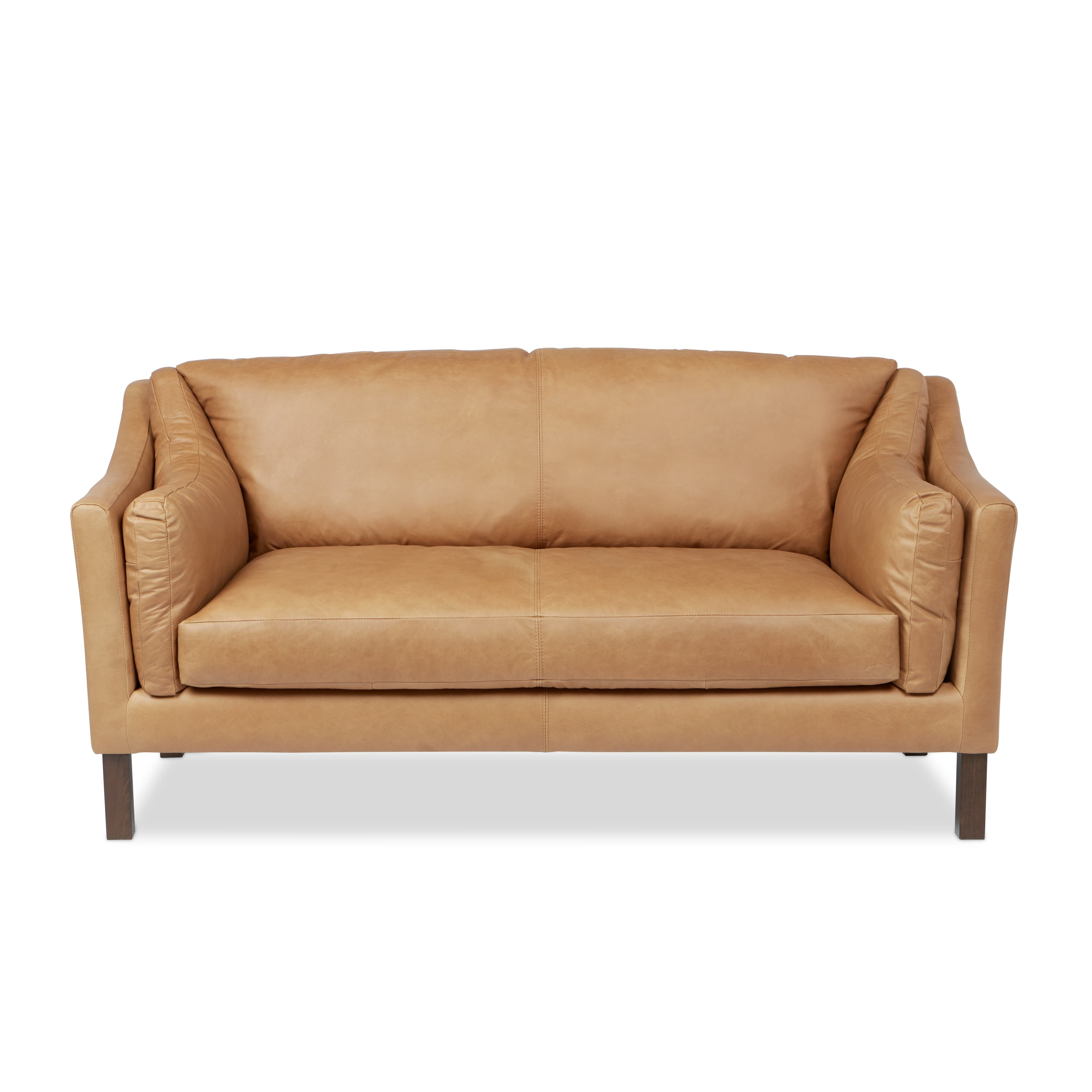 Gracewood Hollow Reginald Charme Russet Leather Sofa
