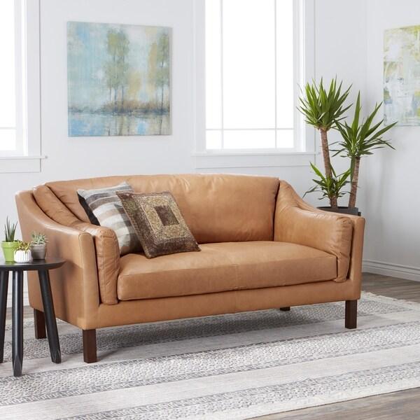 Strick & Bolton Reginald Charme Russet Leather Sofa