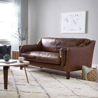 Reginald Chocolate Leather Sofa