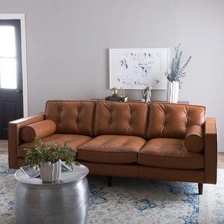 Metropolitan Leather Caramel Metro Sofa