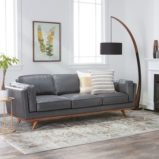Astoria Grey Oxford Leather Sofa