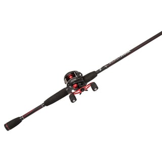 Abu Garcia Black Max Combo LP 6.4:1 Gear Ratio 15 lb Max Drag 6'6-inch 2-piece Rod Medium Right Hand