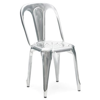 Meubles Vintage Stackable Galvanized Steel Side Chair (Set of 4)