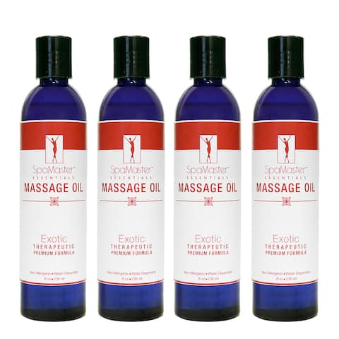 Master Massage 8-ounce Exotic Oil (Pack of 4)