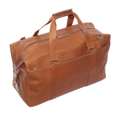 Piel Leather Extra Large Zip-Pocket Duffel