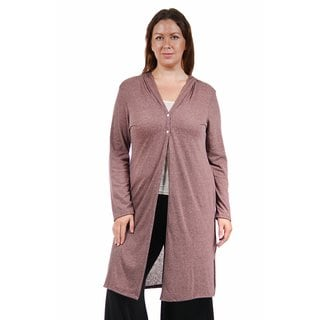 24/7 Comfort Apparel Women's Plus Size Knee-Length Shrug