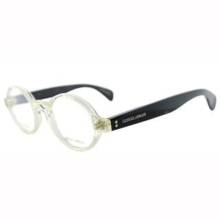 Giorgio Armani Mens GA 964 CMB Honey Crystal Transparent Round Plastic Eyeglasses-47mm