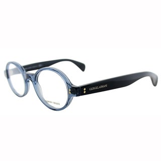Giorgio Armani Mens GA 964 BMS Blue Transparent Round Plastic Eyeglasses-47mm