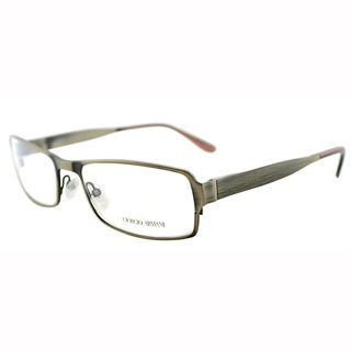 Giorgio Armani Unisex GA 968 O7T Metallic Gold Metal Rectangle Eyeglasses-54mm