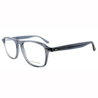 Giorgio Armani Womens GA 965 GLI Blue Transparent Square Plastic Eyeglasses-51mm