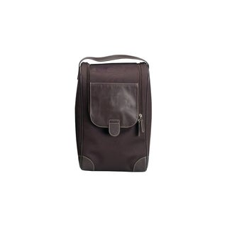 Belino Brown Vintage Zipper Shoe Bag