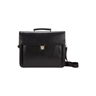 Goodhope Frankfurt Bellino Leather Flap-Over 15-inch Laptop/Tablet Briefcase