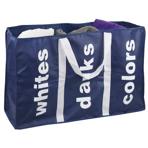 Sunbeam Navy 3-section Laundry Bag