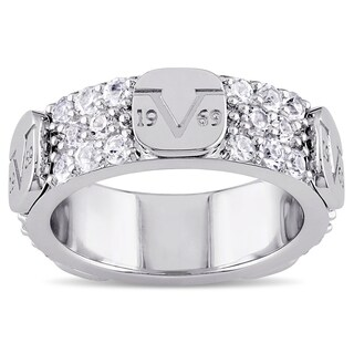 V1969 ITALIA White Sapphire Eternity Ring in Sterling Silver