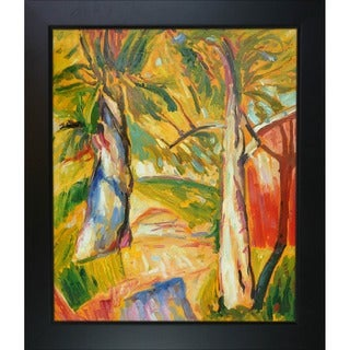 Alfred Henry Maurer 'Landscape' Hand Painted Framed Canvas Art