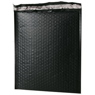"Size #0 6.5""""x9"""" Black Poly Bubble Mailers"
