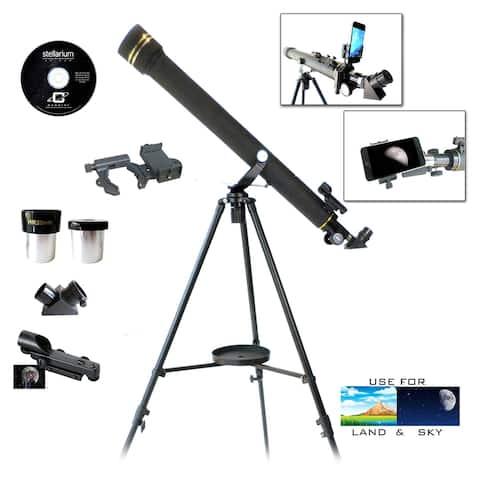 Galileo G-860BG Refractor Telescope with SmartPhone Photo Adapter