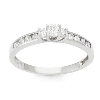 Gioelli 10k White Gold 1/2ct TDW Diamond Channel-set Ring (H-I, I1-I2)