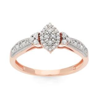 Gioelli 10k Rose Gold 1/3ct TDW Diamond Eternity Ring (H-I, I1-I2)