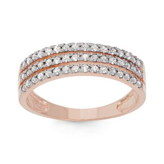 Gioelli 10k Rose Gold 1/2ct TDW Diamond Channel-set Ring