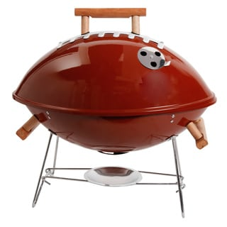 Gibson Football Style Outdoor Portable Charcoal Grill