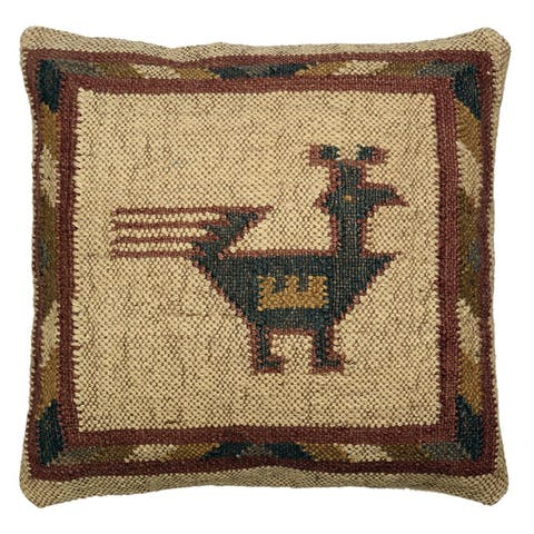 Hacienda Tribal Jute and Wool 18-inch Throw Pillow