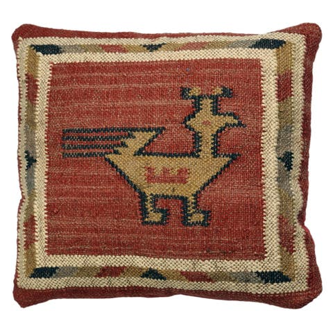 Hacienda Tribal Jute and Wool 18-inch Throw Pillow