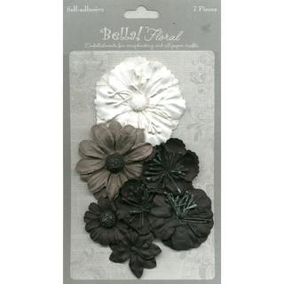 Bella Paper Florals 7/Pkg-Black