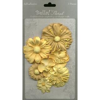 Bella Paper Florals 7/Pkg-Gold