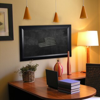 American Made Rayne Solid Black Angle Blackboard/Chalkboard (More options available)