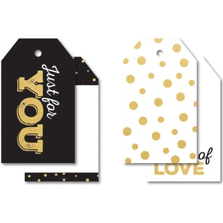 "A Touch Of Gold Tag Pack 2""X3.25"" 12/Pkg"