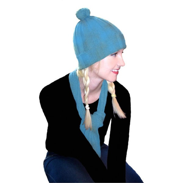 Dolores Piscotta Women's Cashmere Scarf and Hat Set - One Size Fits Most