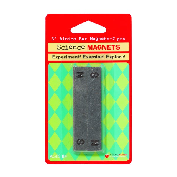 Dowling Magnets 2-pack Alnico Bar Magnets (Pack of 2)