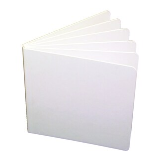 White Hardcover 8.125 x 6 3/8-inch Blank Book (Pack of 10)