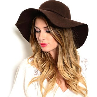 Shop the Trends Women's Floppy Wide Brim Hat