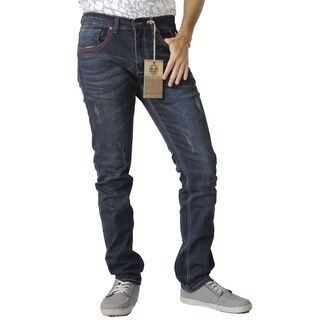 The United Freedom MEN'S RED STITCHING POCKET JEAN IN STRETCH DENIM, SLIM FIT (More options available)