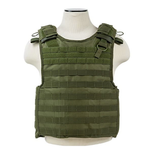 NcStar Quick Release Plate Carrier Vest Green