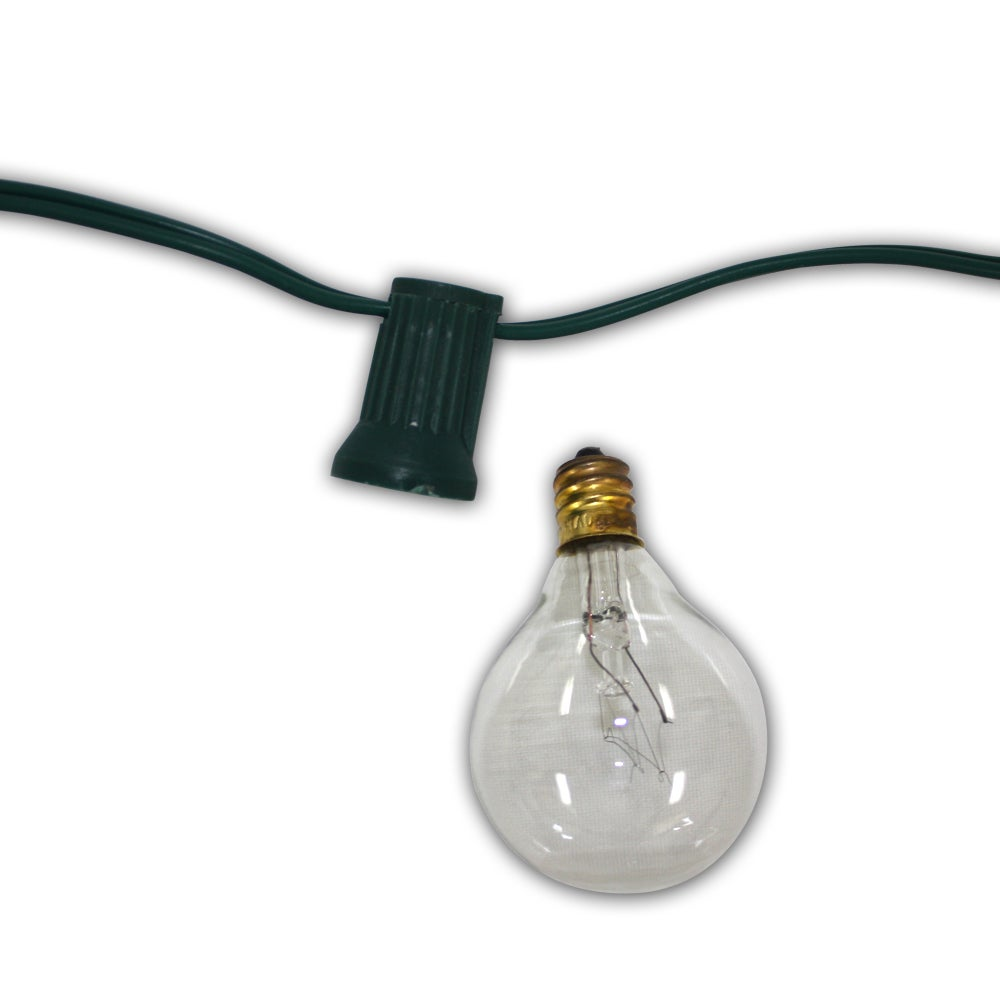 Table in a Bag 100-foot Party Light Clear Bulb Light Stra...
