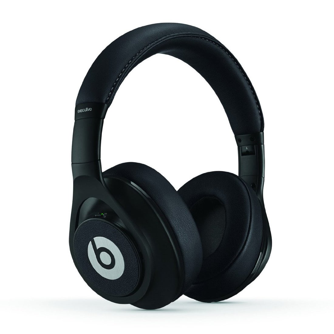 Reconditioned Beats Executive Over-Ear Noise Cancelling Headphones-Executive Black Executive Wired Black
