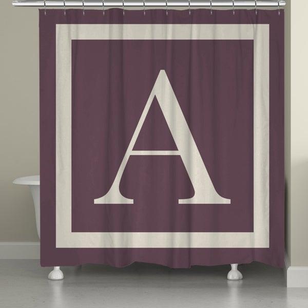 Laural Home Monogram Border Shower Curtain