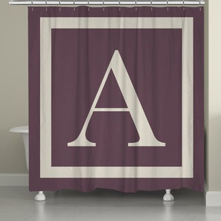 Laural Home Monogram Border Shower Curtain