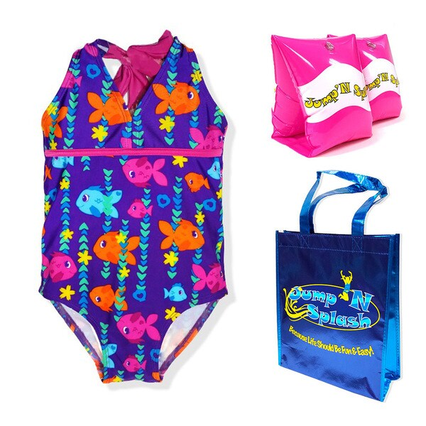 UV Protection LiMiTed Too Girlss 3 Piece Rashguard Set Swimsuit Swimwear 50