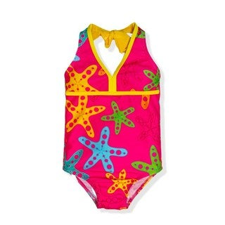 Jump'N Splash Small Girls' Rainbow Starfish One-Piece Swimsuit